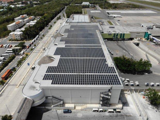 Solar Panels Installation in Terminal B at Punta Cana International Airport
