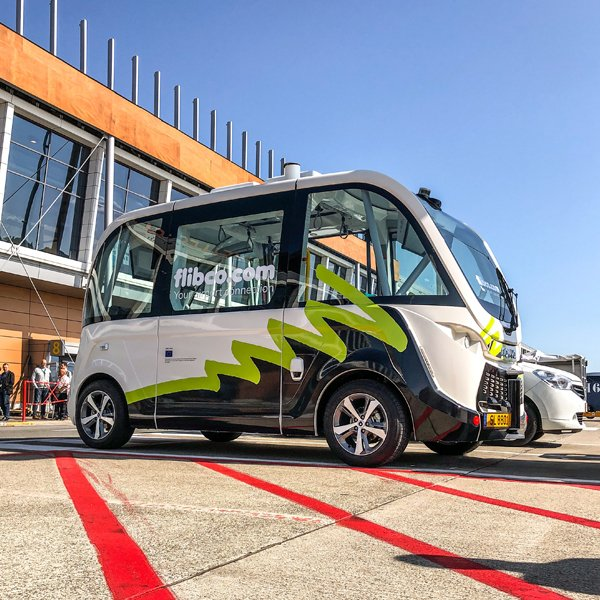 Brussels South Charleroi Airport is linking up its terminals with a self-driving vehicle:  Flibco is trialling the NAVYA