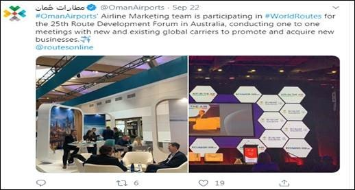 Throwback to Oman Airports attendance at World Routes 2019