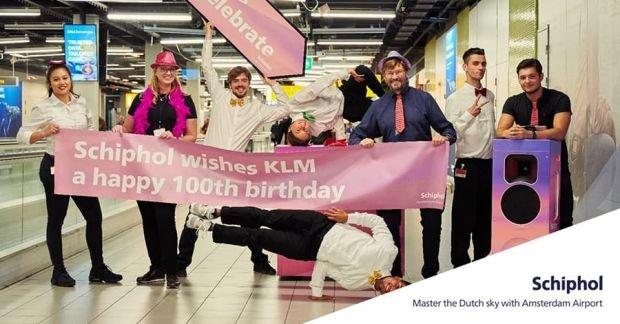 Amsterdam Airport Schiphol celebrates: KLM's 100th birthday