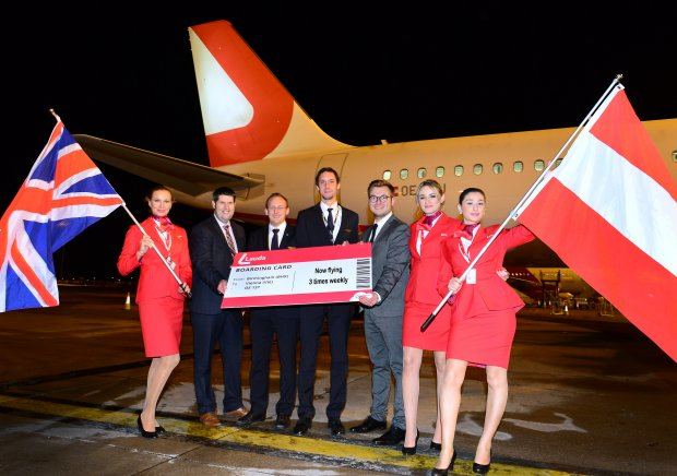 Lauda starts New Route from Birmingham to Vienna