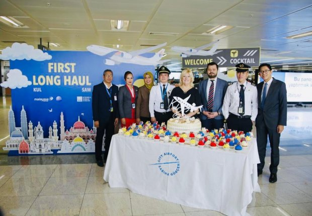 Malaysia Airlines marks the first long haul flight between KUL and SAW