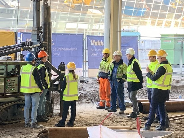 Construction officially begins for the new Summa Aviation Services building at Eindhoven Airport