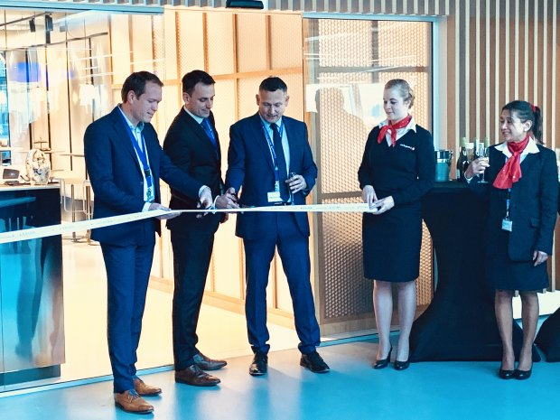 Opening 'Aspire' business lounge at Eindhoven Airport