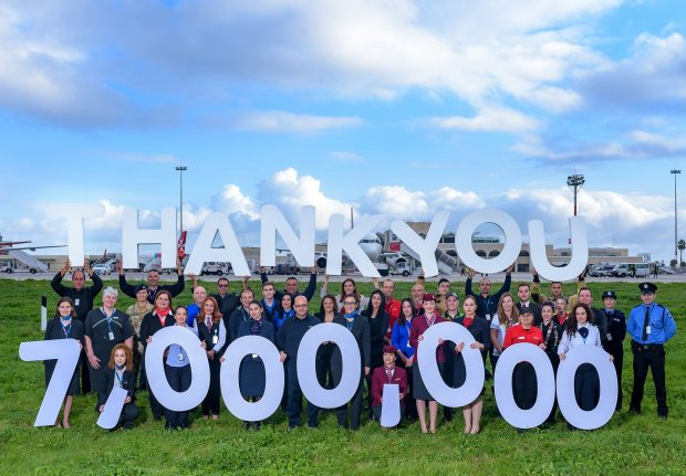 MLA welcomes its 7 millionth pax!