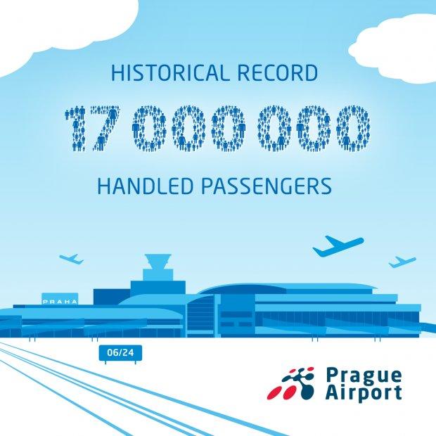 Prague Airport Reaches Another Historic Milestone ‒ 17 Million Handled Passengers