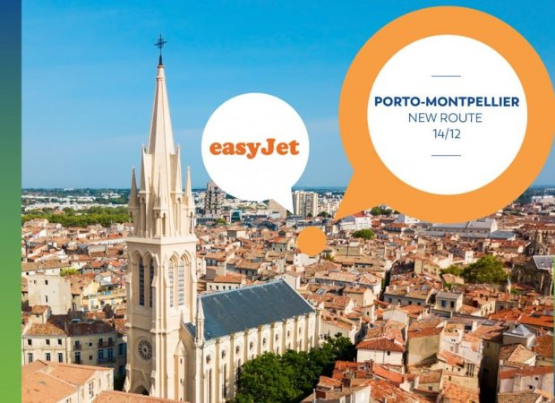 EasyJet inaugurates a new route from Porto to Montpellier