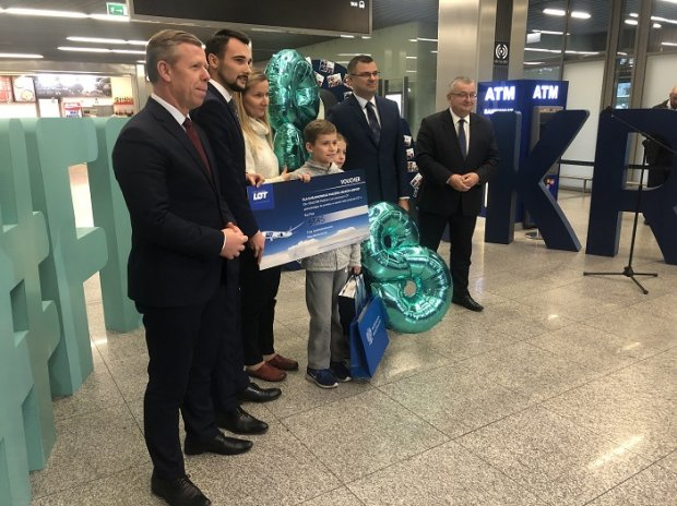 8 millionth passenger at Kraków Airport