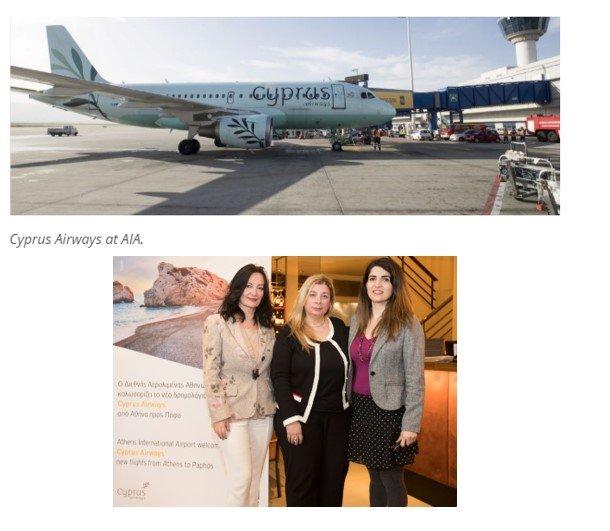 Cyprus Airways celebrates 2 months of Athens – Paphos..