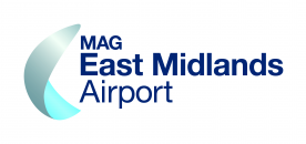 East Midlands Airport, part of Manchester Airports Group logo