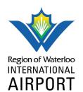 Region of Waterloo International Airport (YKF) logo