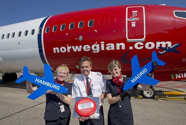 Inaugural Norwegian Flight HAM - MAD 04/06/2014