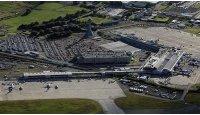 Aerial view of Edinburgh Airport