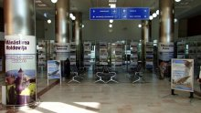 Check-in area