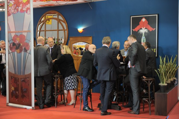 Networking at the Brussels stand
