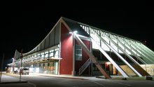 Memmingen Airport at night