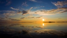Sunset by Finland´s largest lake Saimaa
