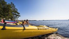 Canoeing trip on Lake Saimaa