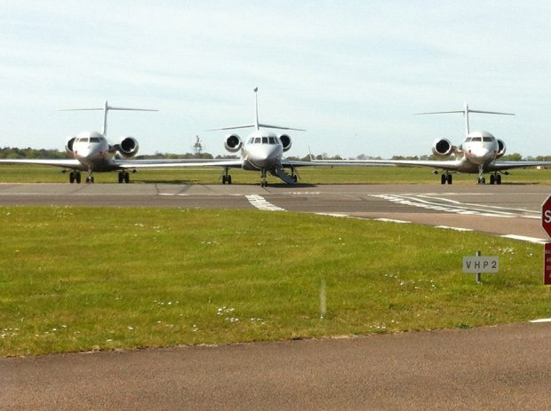 Planes on the tarmac