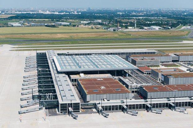 Berlin Brandenburg Airport from above 3