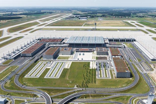 Berlin Brandenburg Airport from above 2