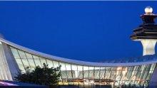 Washington Dulles International Airport at night