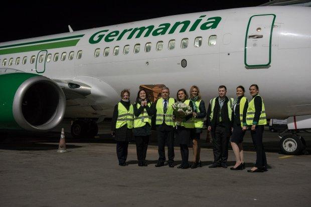 Germania Inaugural Flight