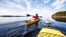 Paddling at Lake Saimaa