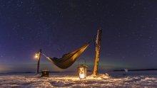 Finland winter camping  Saimaa