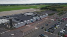 Teesside Airport Aerial view