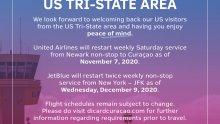 Restart Route: US Tri-State Area