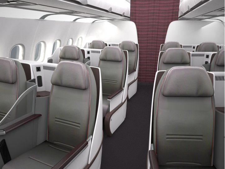 Qatar Airways' new Premium A319 Configuration