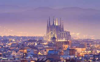 Barcelona City Skyline