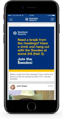 App promoted post screenshot