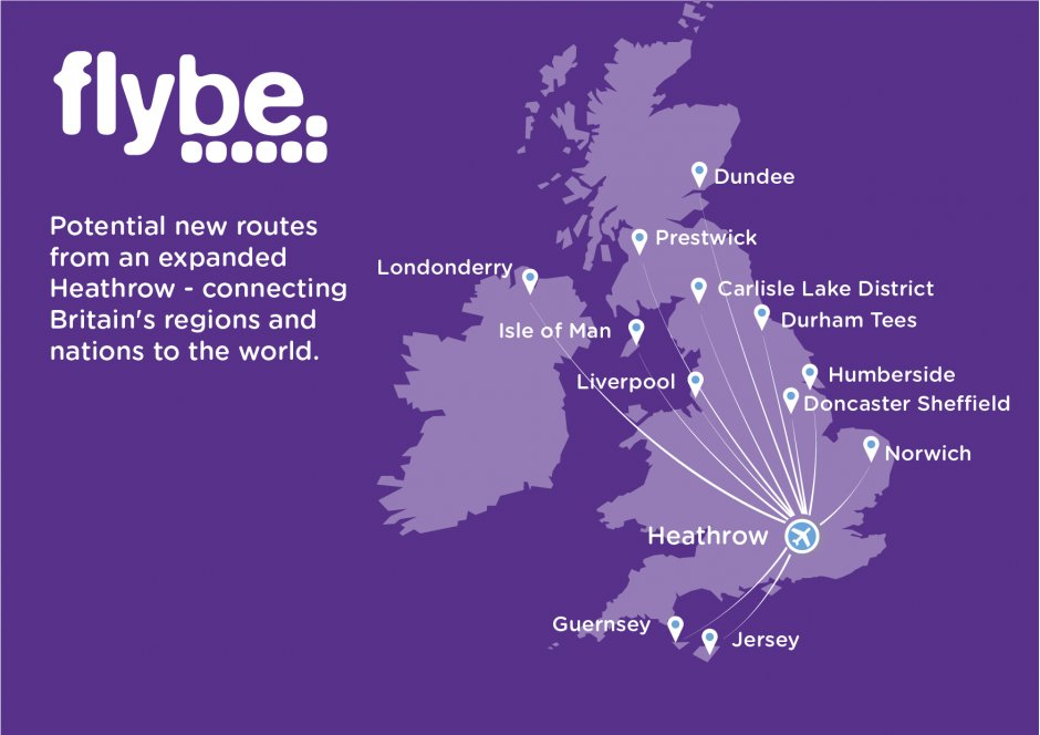 Flybe Heathrow Map