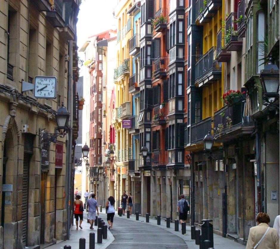 Bilbao old town street