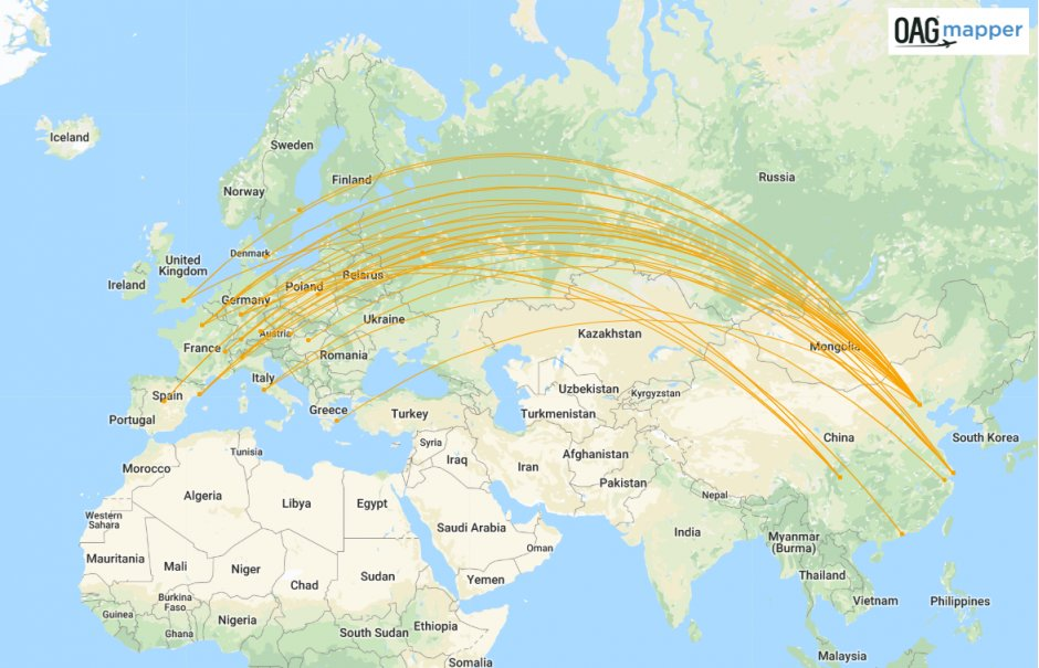 Air China China-Europe routes summer 19