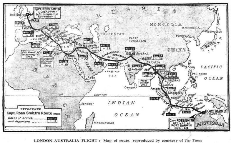 Original route map from The Times