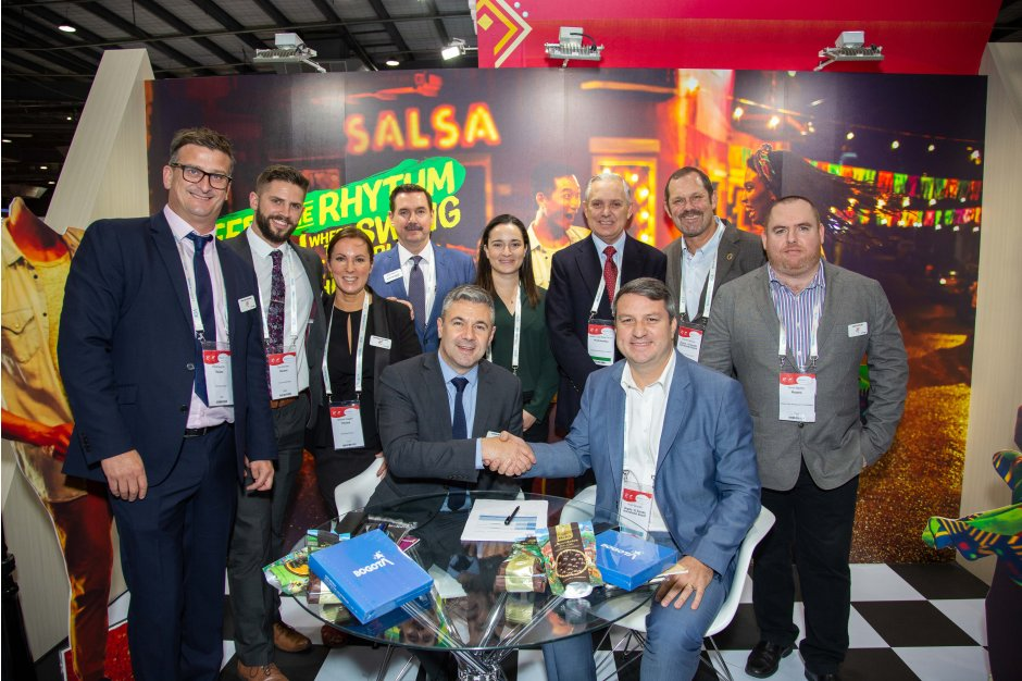 Colombia signing at World Routes 2019 for Routes Americas 2021