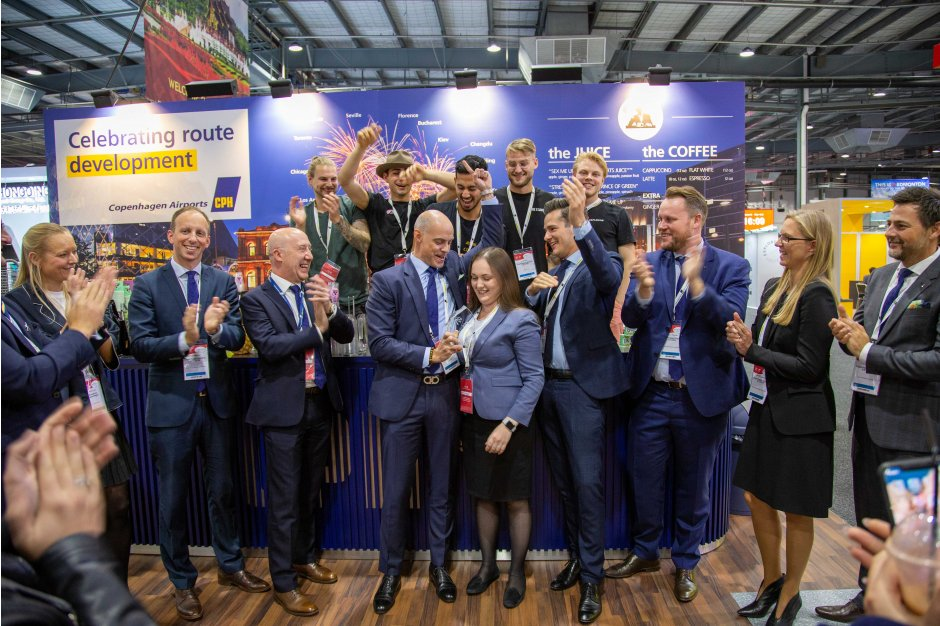 Copenhagen Airports win Best Stand Award at World Routes