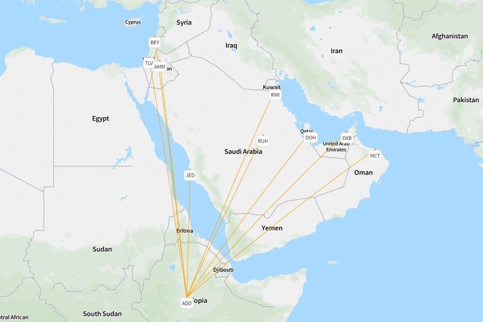 Ethiopian's ME network